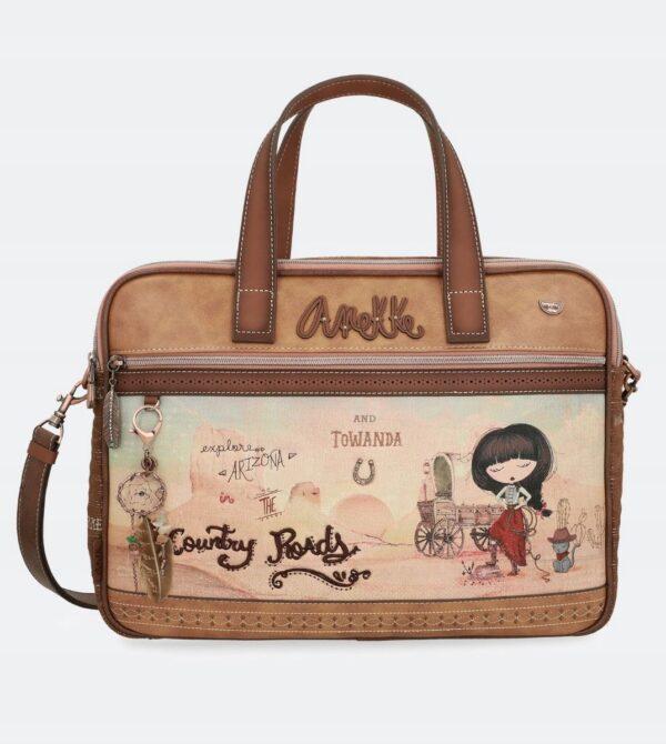 Anekke Arizona - torba na laptop z kowbojką - Lunula Dream Shop