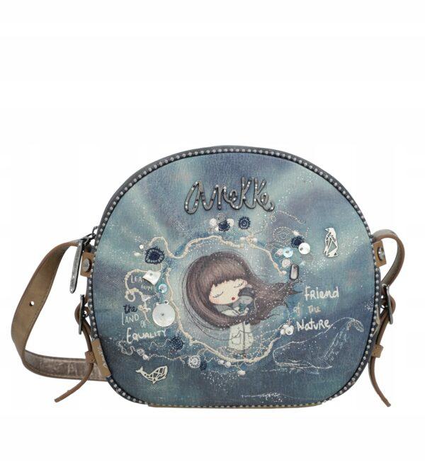 Anekke Iceland -zima- torebka okrągła listonoszka - Lunula Dream Shop