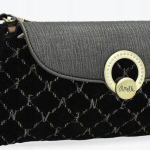 Anekke Couture -czarna elegancka torebka łańcuszek - Lunula Dream Shop