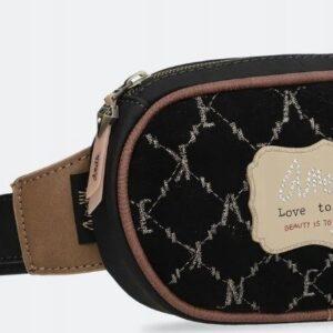 Anekke Couture -czarna elegancka torebka nerka - Lunula Dream Shop