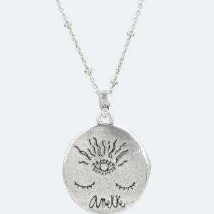Anekke - naszyjnik księżyc łańcuszek Swarovski - Lunula Dream Shop