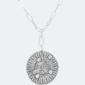 Anekke - naszyjnik słońce srebro Swarovski - Lunula Dream Shop