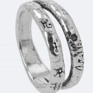 Anekke - podwójna obrączka srebrna Swarovski - Lunula Dream Shop