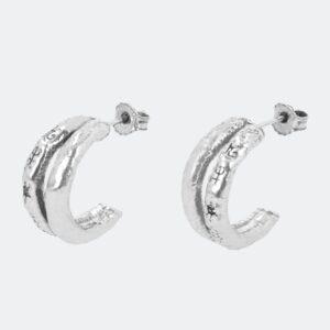Anekke - podwójne srebrne astrologiczne kolczyki - Lunula Dream Shop