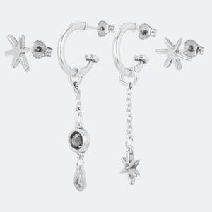 Anekke - srebrne kolczyki gwiazdki - Lunula Dream Shop