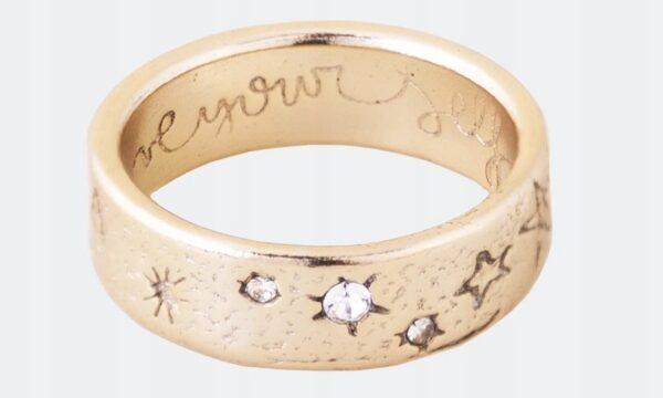 Anekke - złota obrączka gwiazdki Swarovski - Lunula Dream Shop