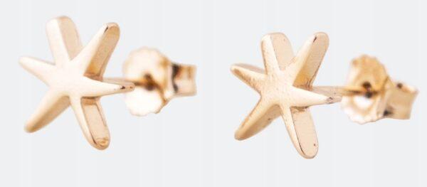 Anekke - złote kolczyki gwiazdki - Lunula Dream Shop