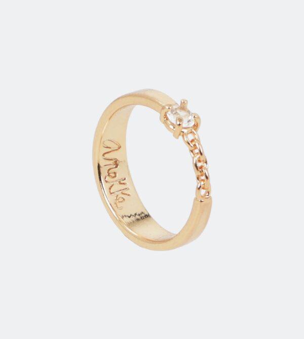 Anekke - złoty pierścionek Swarovski - Lunula Dream Shop